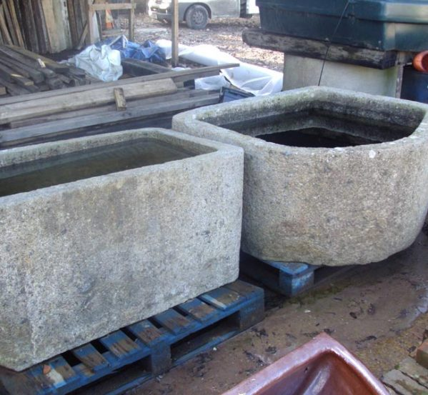 19th century French stone troughs