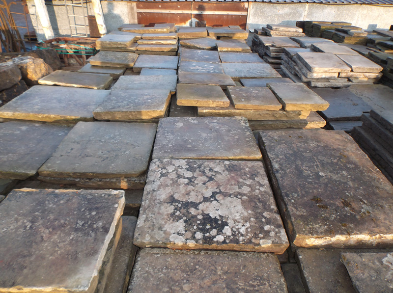 Reclaimed York Stone Paving West Sussex Authentic