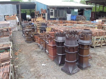 Reclaimed Chimney Pots For Dorking Reclamation Yard