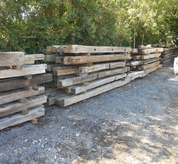 reclaimed English oak beams