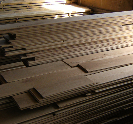 Kiln dried oak boards