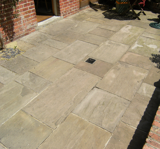 Reclaimed Indian Sandstone Paving For West Sussex