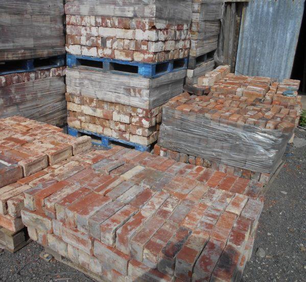 reclaimed pressed clay bricks
