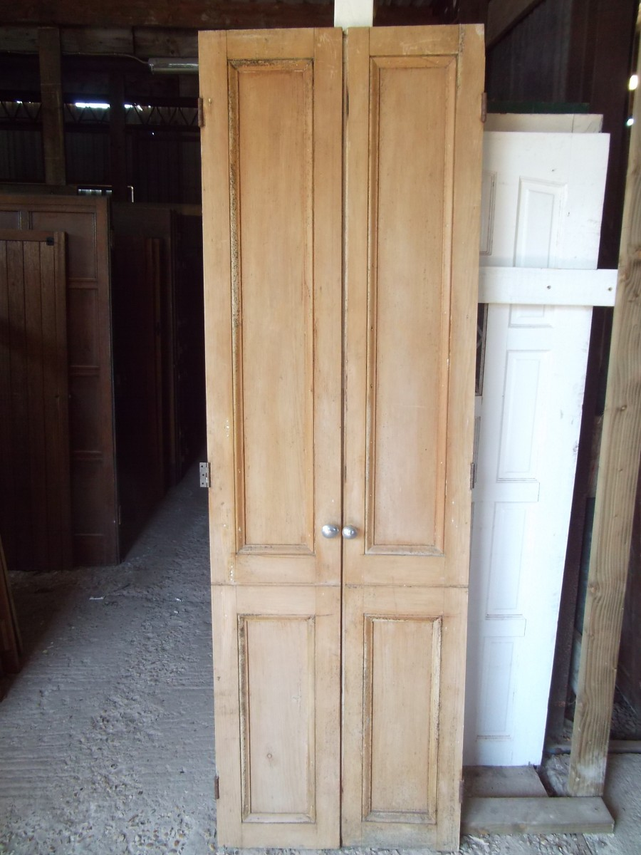 A Pair Of Victorian Tall Cupboard Doors Authentic