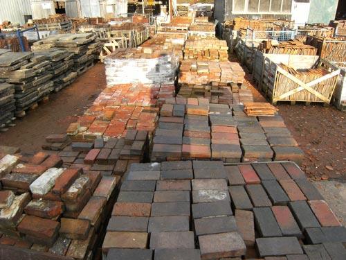 hand made Victorian paving bricks