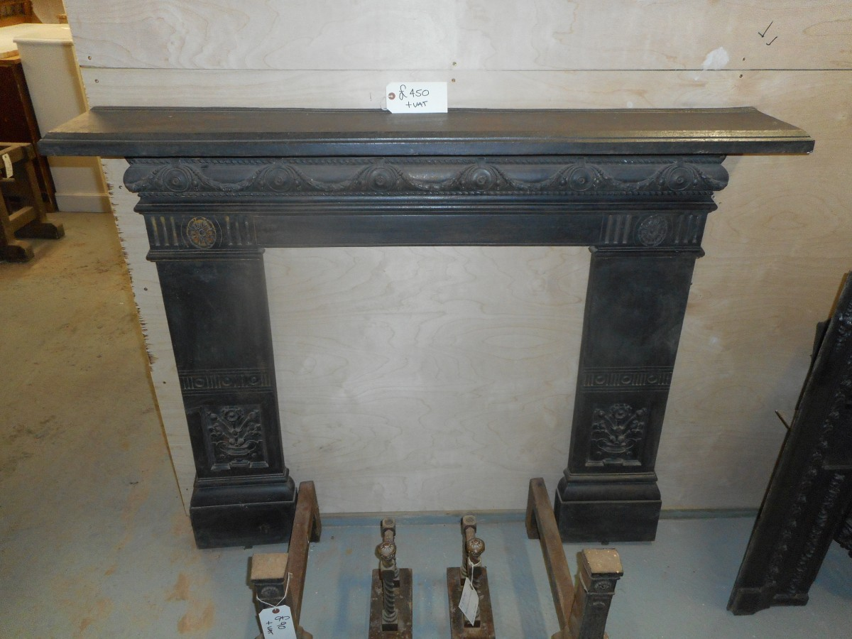 regency style cast iron fire surround authentic reclamation
