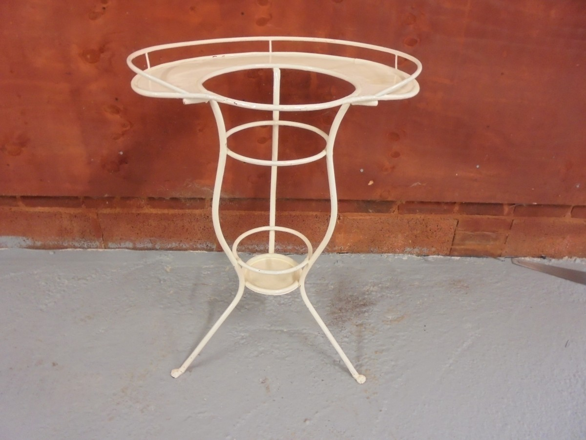 Metal Conservatory Table Authentic Reclamation