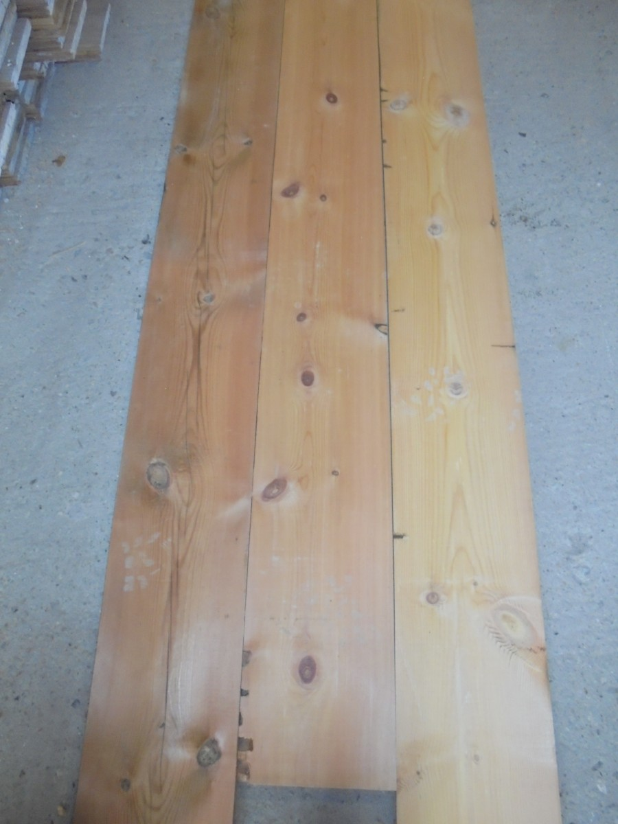 Quot re sawn pine floor boards authentic reclamation