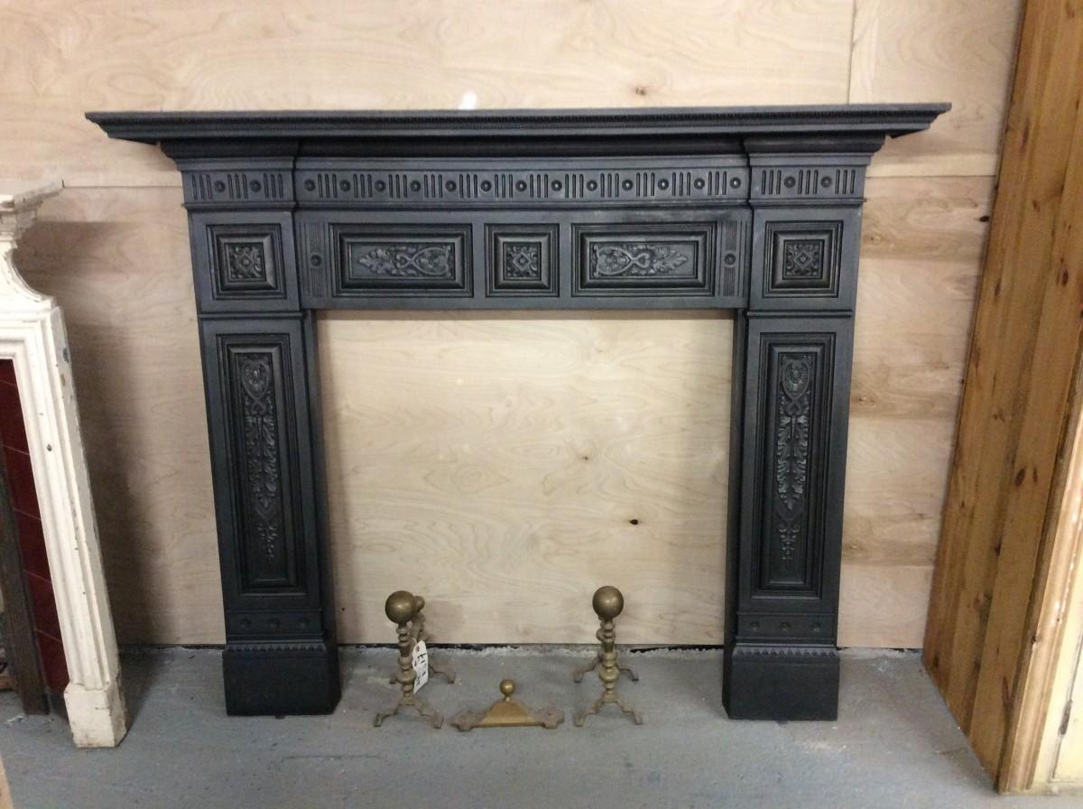 Impressive Victorian Cast Iron Fire Surround Authentic
