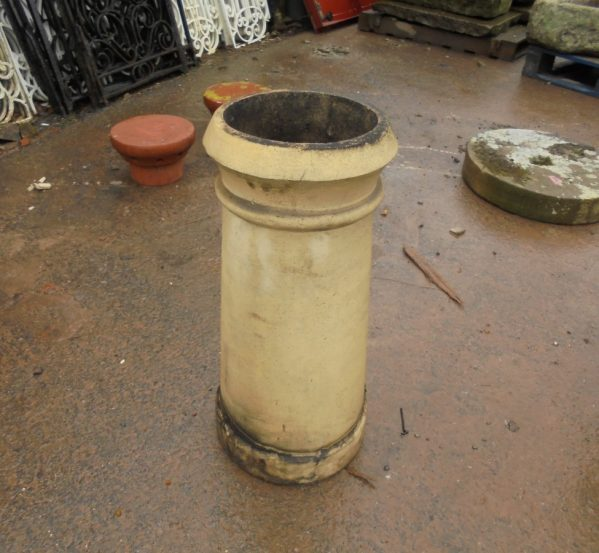 Reclaimed buff cannon chimney pot