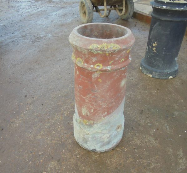 Terracotta cannon chimney pot