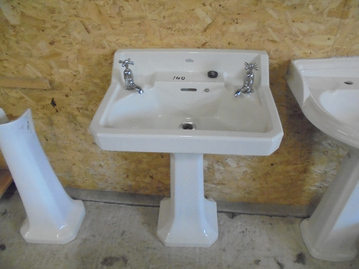 Royal Doulton Sink And Pedstal Authentic Reclamation