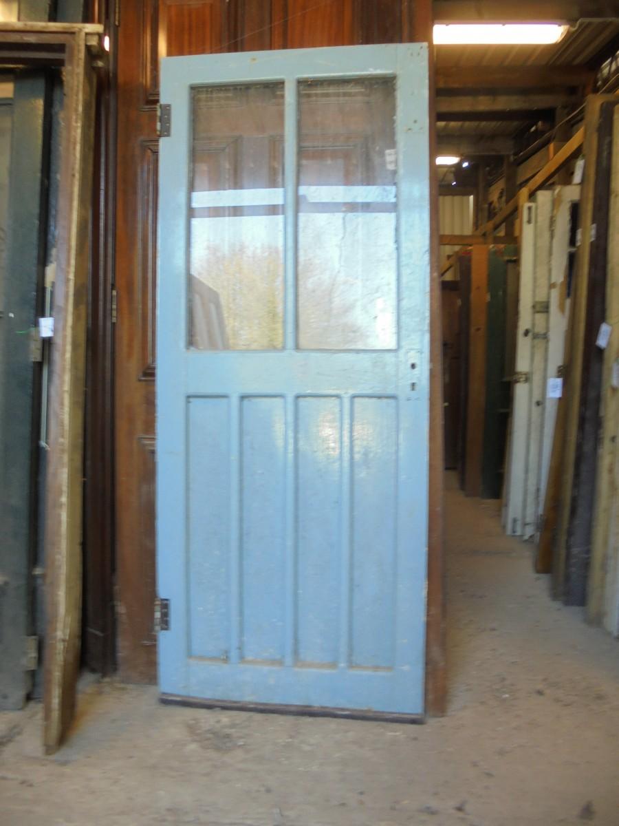 Half glazed exterior doors oak front door and frame with for Reclaimed upvc doors