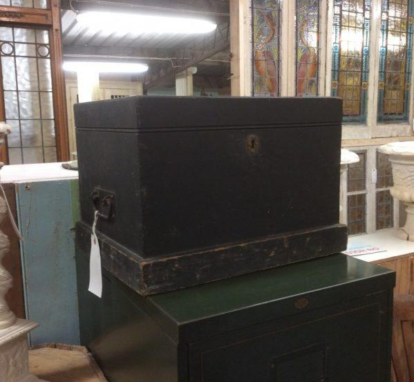 reclaimed dark wooden box