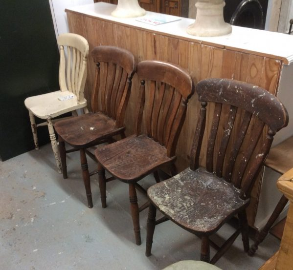 Set of 4 reclaimed chairs
