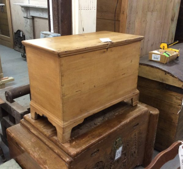 Salvaged pine box with legs