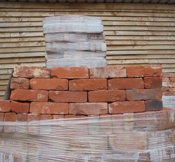handmade knock-about red bricks