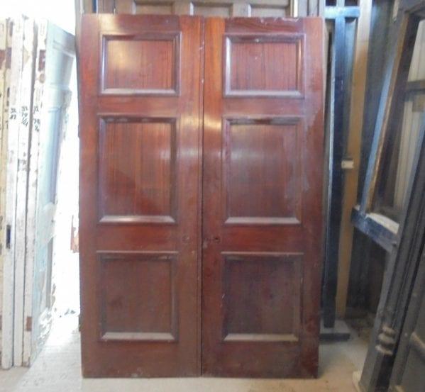 Pair of mahogany double doors