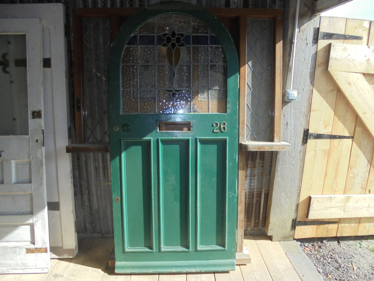 900 #418A78 Green Arched Front Door Authentic Reclamation pic Arch Front Doors 42811200