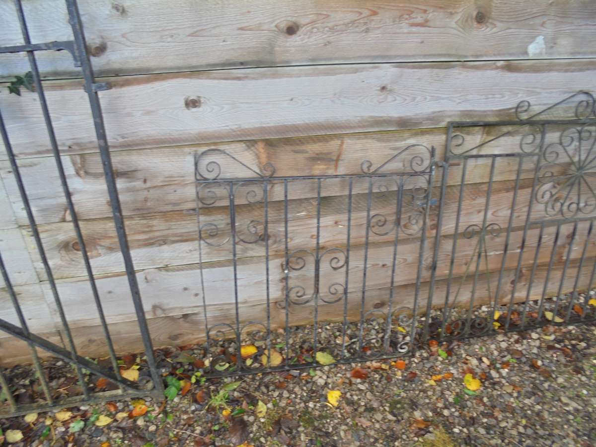 Small wrought iron gate authentic reclamation