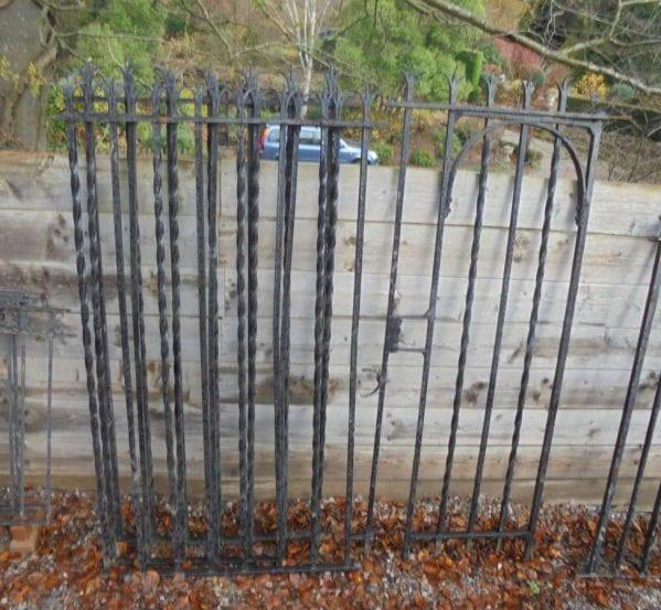 Ornate wrought iron railing/gate