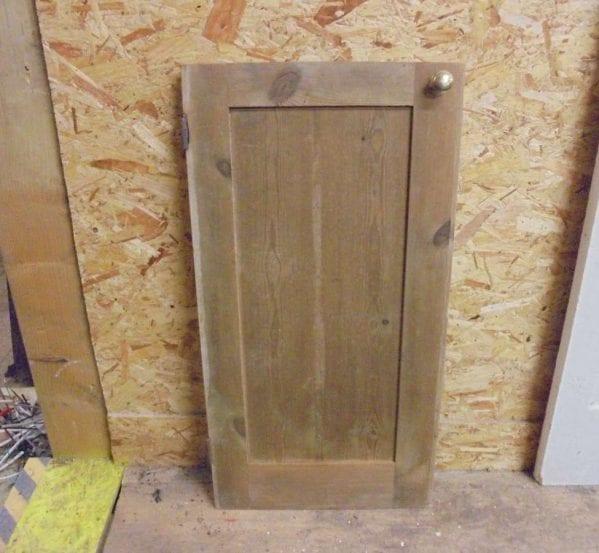 reclaimed non varnished cupboard door