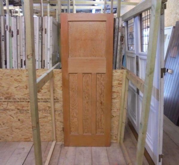 Reclaimed varnished 1930s 1 over 3 panel door authentic for 1 over 3 panel door