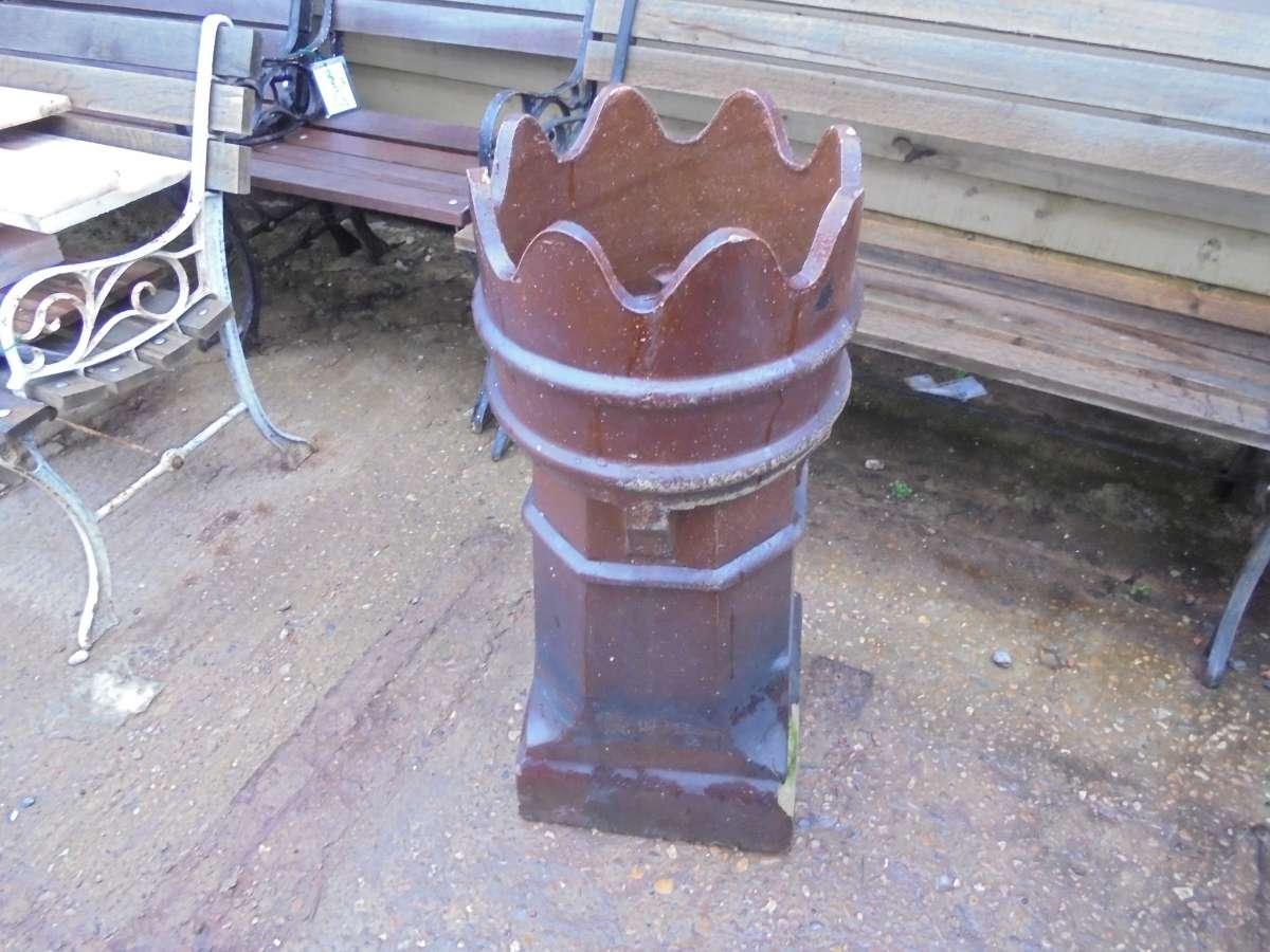 A Reclaimed Queen Chimney Pot Slightly Damaged