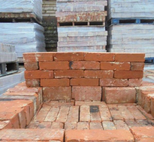 handmade orange red bricks