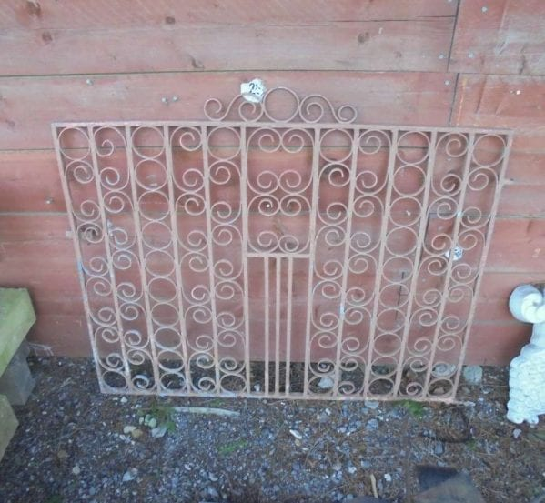 Reclaimed Decorative Wrought Iron Gate