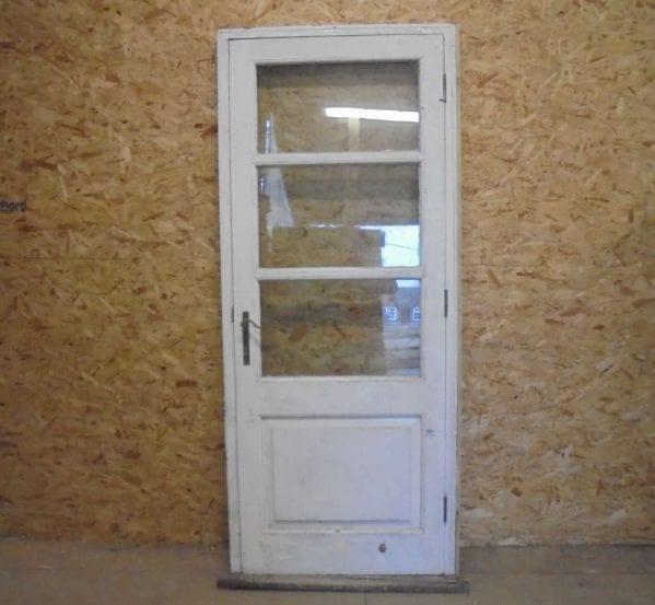 Reclaimed external half glazed door authentic reclamation for Glazed external doors