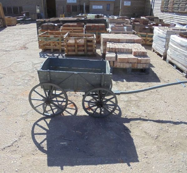 Reclaimed Wooden and Iron Dog Cart