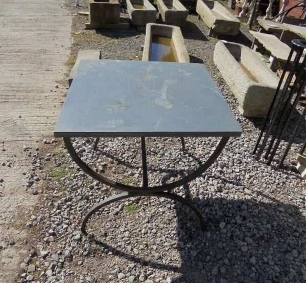 Reclaimed Square Metal Table