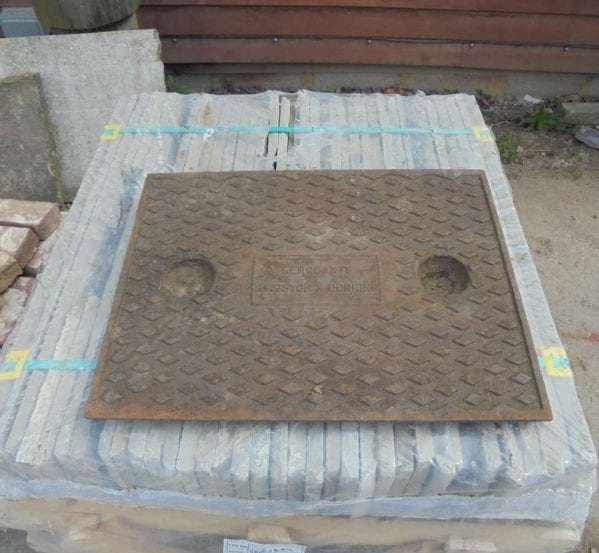 Reclaimed Square Man Hole Cover