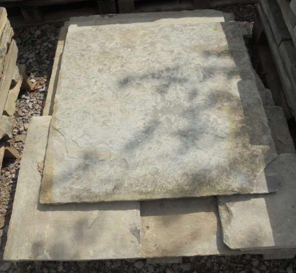 Reclaimed thin york paving slabs