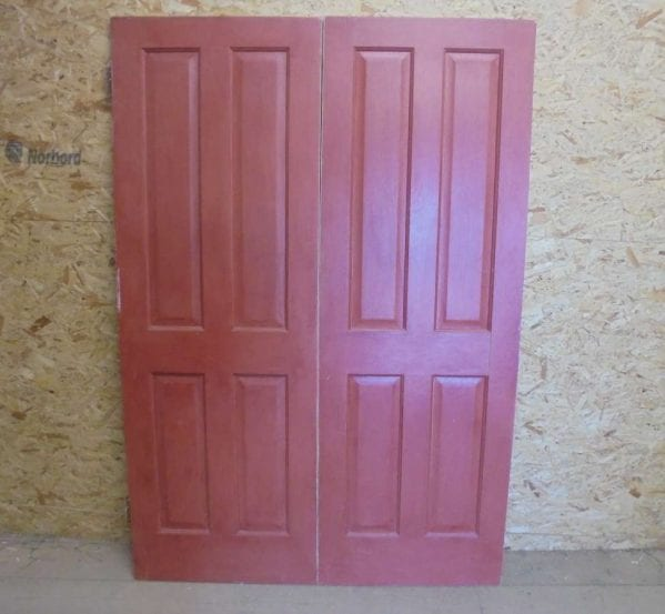 Reclaimed Pair of 4 Decorative Panel Doors