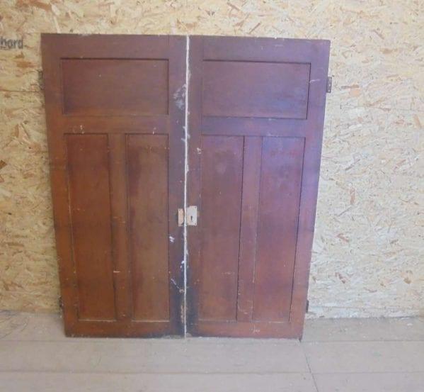 Reclaimed Painted Cupboard Door Pair