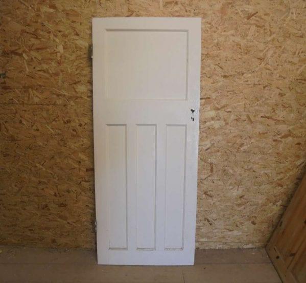 Reclaimed 1 over 3 painted panel door authentic reclamation for 1 over 3 panel door