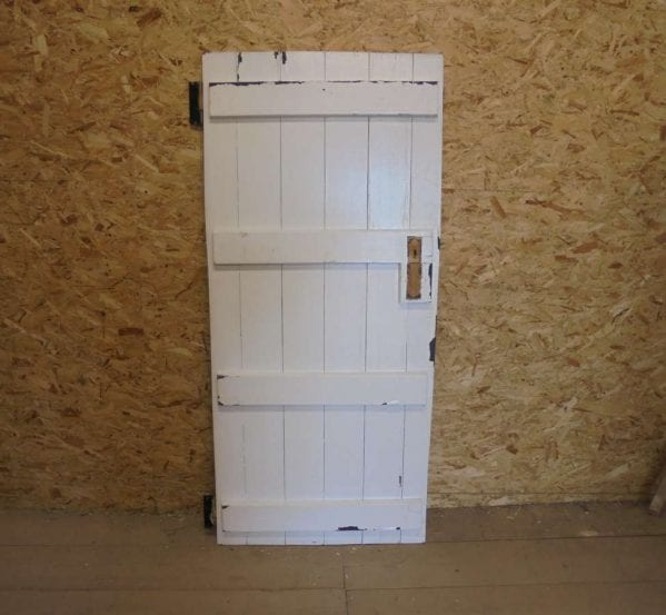 White Painted Reclaimed Ledged Door