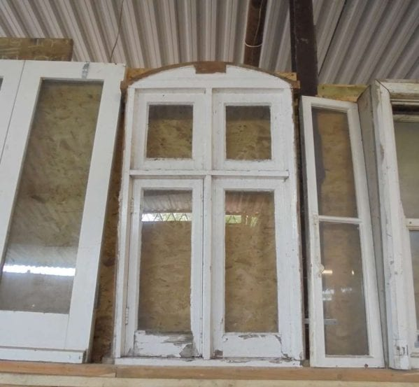 Reclaimed Painted Wooden Window 2 Over 2