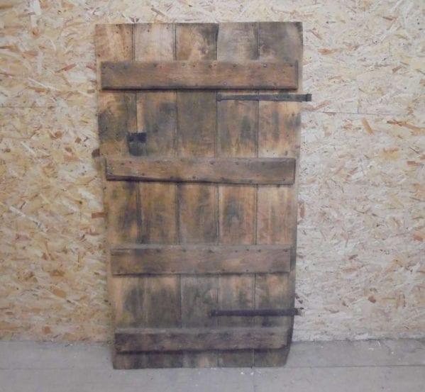 Reclaimed Oak 4 Ledged Door
