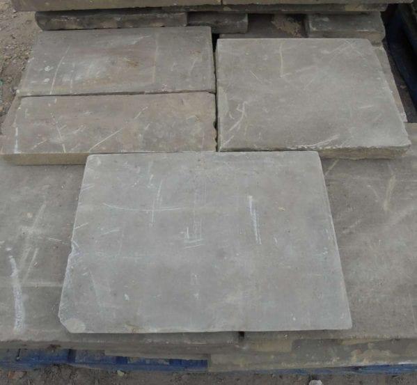 Reclaimed light stone york paving