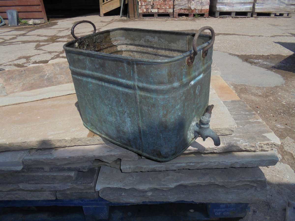 Reclaimed copper water tank authentic reclamation for Copper water tank
