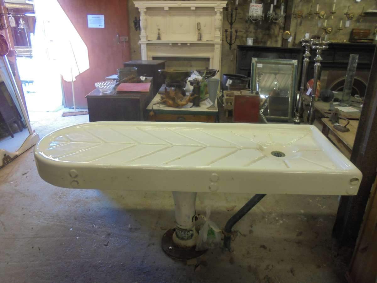 A reclaimed embalming table authentic reclamation
