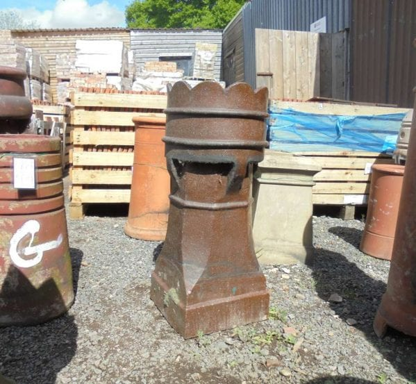 Reclaimed Dark Brown Queen Chimney Pot