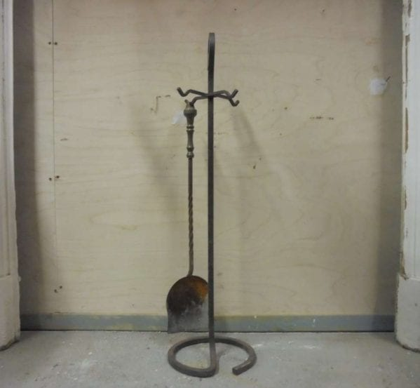 Reclaimed Coal Shovel and Stand