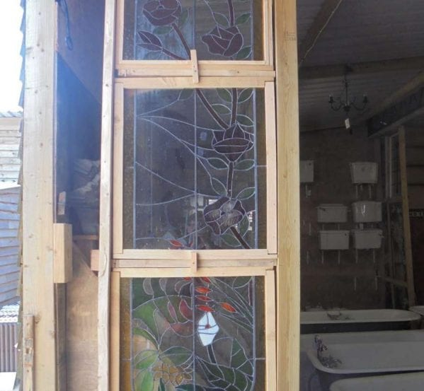 3 Tiered feature stained glass windows