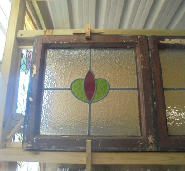 Reclaimed stained glass windows