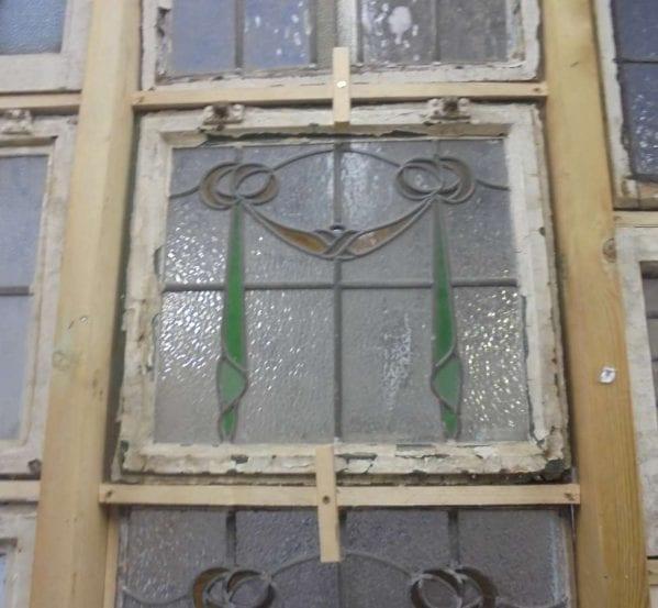 Drape styled stain glass windows