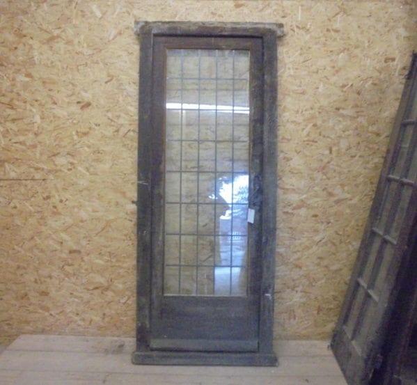 Reclaimed fully glazed framed door